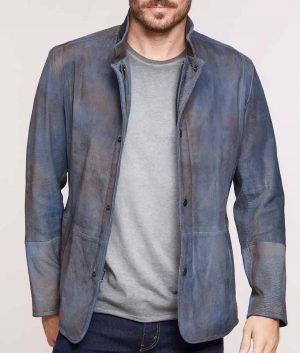 Arnoldo Mens Two-Tone Textured Italian Lambskin Blazer
