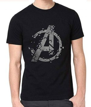 Avengers Endgame Black Widow Natasha Romanoff Black T shirt