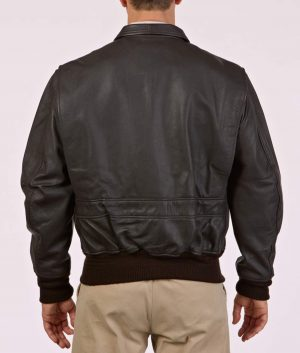 Barney Mens Modern Leather A-10 Flight Jacket