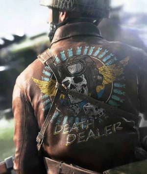 Battlefield 5 Brown Leather Death Dealer Bomber Jacket