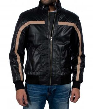 Nicholas Mendoza Battlefield Hardline Quilted Leather Jacket