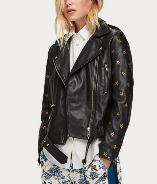 Batwoman Nicole Kang Leather Black Jacket