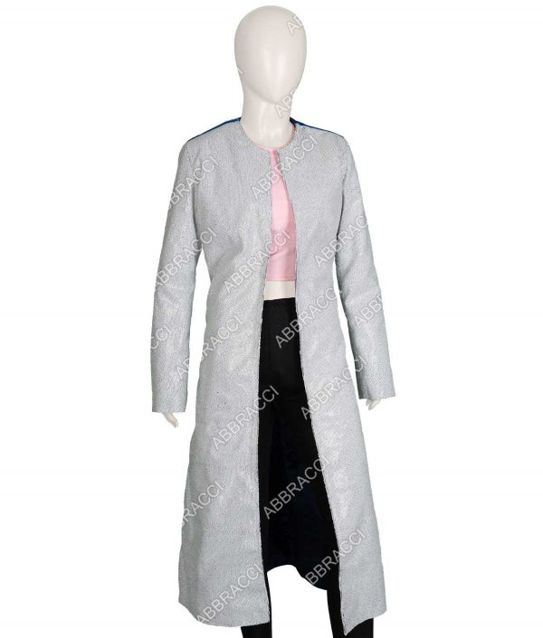 Harley Quinn Margot Robbie Birds Of Prey Sequin Long Trench Duster Coat