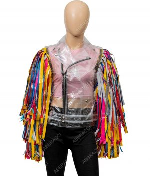 Harley Quinn Birds Of Prey Wings Caution Tape Jacket