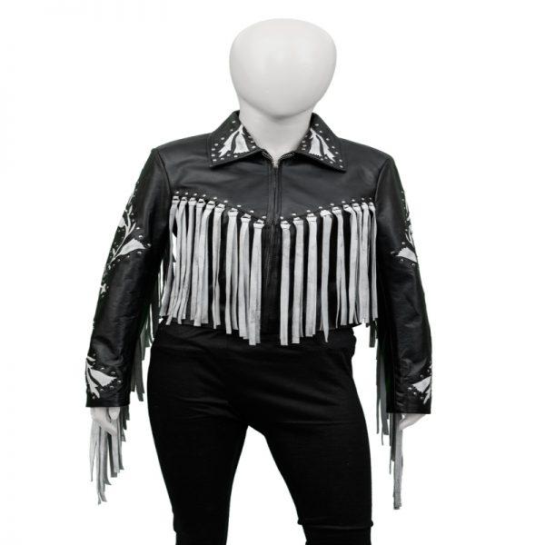 Harley Quinn Birds Of Prey Margot Robbie Fringe Black Leather Jacket