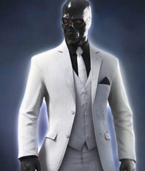 Birds of Prey Ewan McGregor Black Mask White Blazer Coat