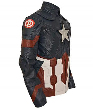 Captain America Civil War Leather Jacket (Free T- Shirt)