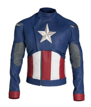 Chris Evans Captain America The Avengers Leather Jacket