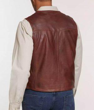 Carreras Mens Leather Vest