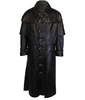 Charles Mens Black Duster Coat