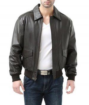 Charlie Mens USAF A2 Flight Leather Jacket