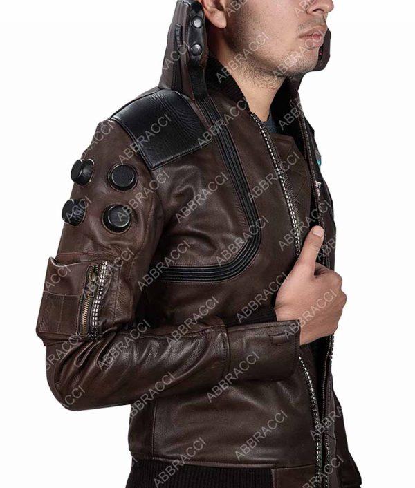 Cyberpunk 2077 Samurai Character V Light-up Leather Jacket