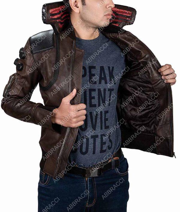 Cyberpunk 2077 V Light-up Leather Jacket