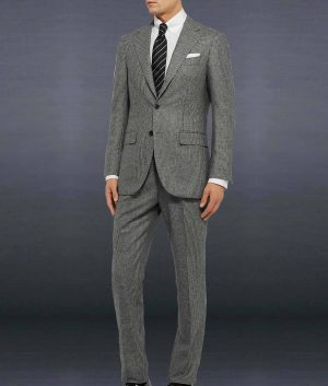 James Bond Daniel Craig No Time To Die Grey Glen-Check Suit