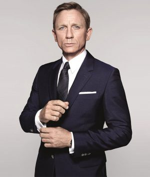 James Bond Spectre Sharkskin Blue Suit