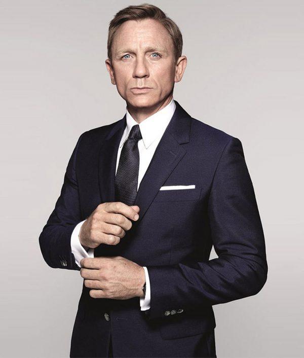 James Bond Spectre Sharkskin Blue Suit