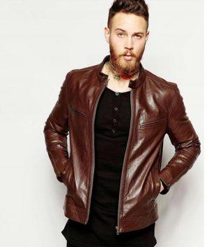 Daniel Mens Cafe Racer leather Jacket