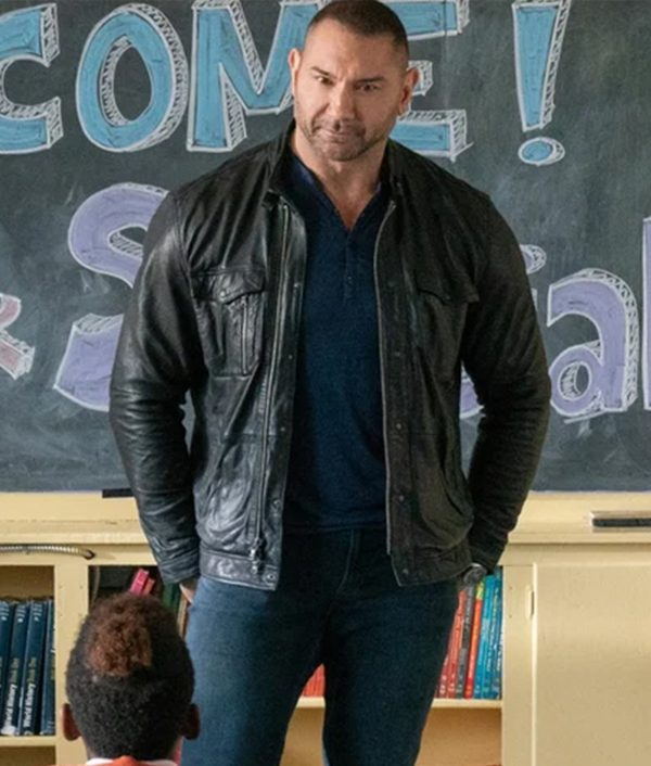 Dave Bautista My Spy JJ Brown Leather Jacket