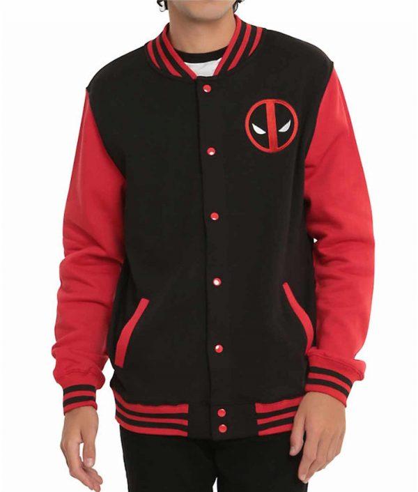 Deadpool Varsity Red and Black Jacket