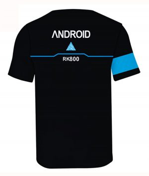 Videogame Detroit Become Human Connor Black and Blue T-shirt