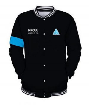 Survival Game Detroit Become Human Connor RK-800 Baseball Jacket