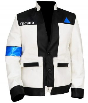 Detroit Become Human Android Gaming Connor RK-900 Leather Jacket