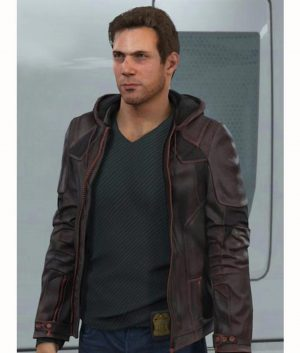 Detroit Become Human Gavin Reed Hooded Leather Jacket