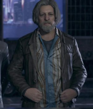 Detroit Become Human Video Game Clancy Brown Leather Jacket