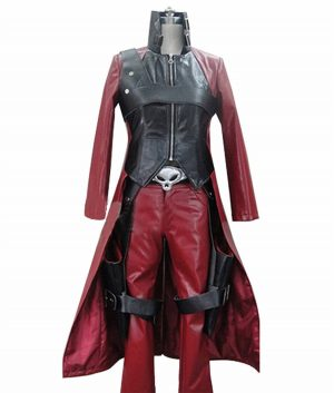 Devil May Cry 2 Dante Maroon Trench Coat