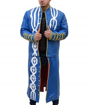 Devil May Cry 3 Vergil Leather Trench Coat