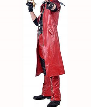 Devil May Cry 4 DMC Dante Leather Long Coat