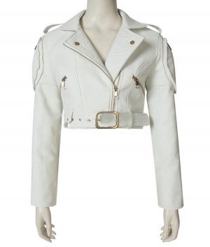 Devil May Cry 5 Lady White Motorcycle Jacket