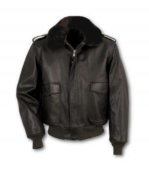 Dewey Mens Schott Cowhide Leather Jacket