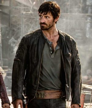 Eoin Macken Resident Evil The Final Chapter Doc Leather Jacket