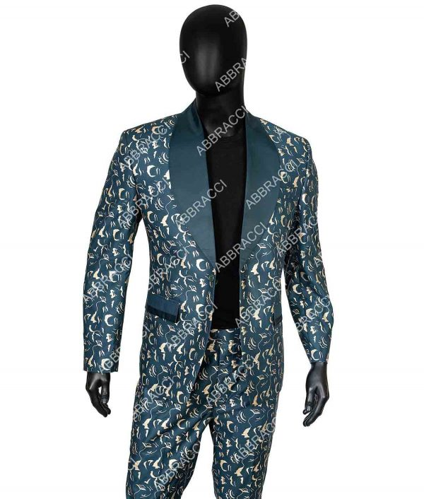 Birds Of Prey Black Mask Blue Suit