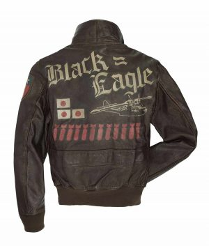 Francisco Mens Black Eagle USN G-1 Flight Bomber Jacket