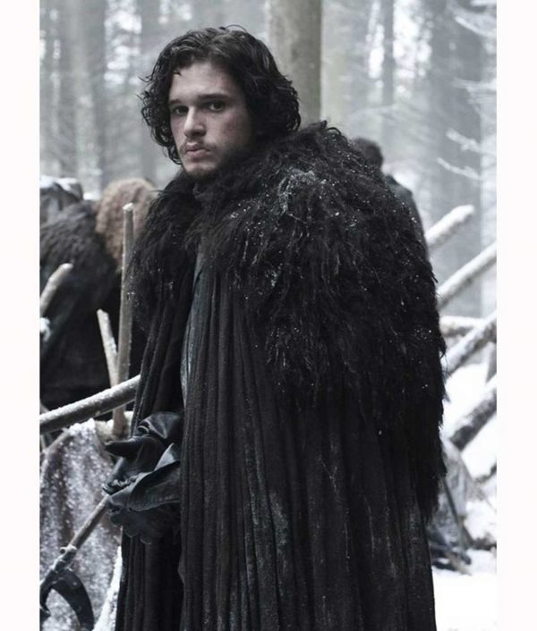 Game Of Thrones Kit Harington Night's Watch Cloak Cape Costume