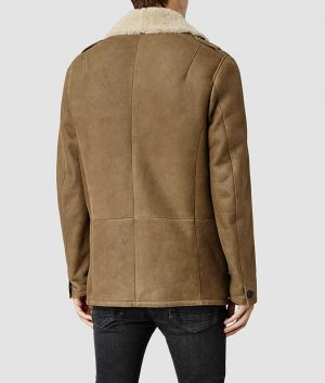 Gregory Mens Sheepskin Shearling PeaCoat