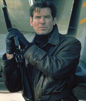 James Bond Pierce Brosnan Tomorrow Never Dies Brown Leather Jacket