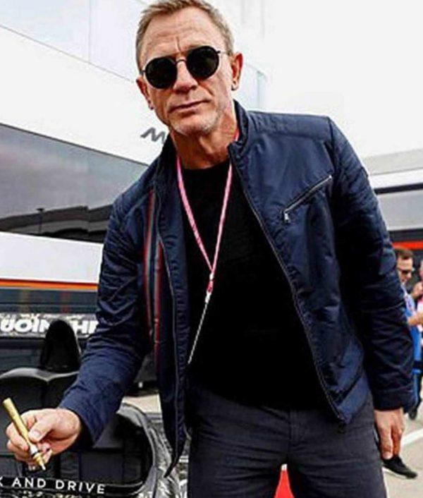 James Bond No Time To Die Daniel Craig Blue Cotton Jacket