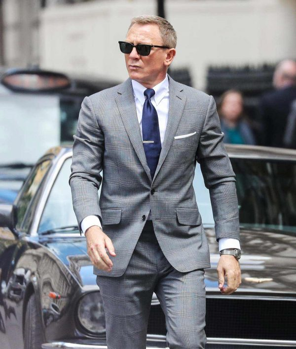 James Bond No Time To Die Grey Glen-Check Suit