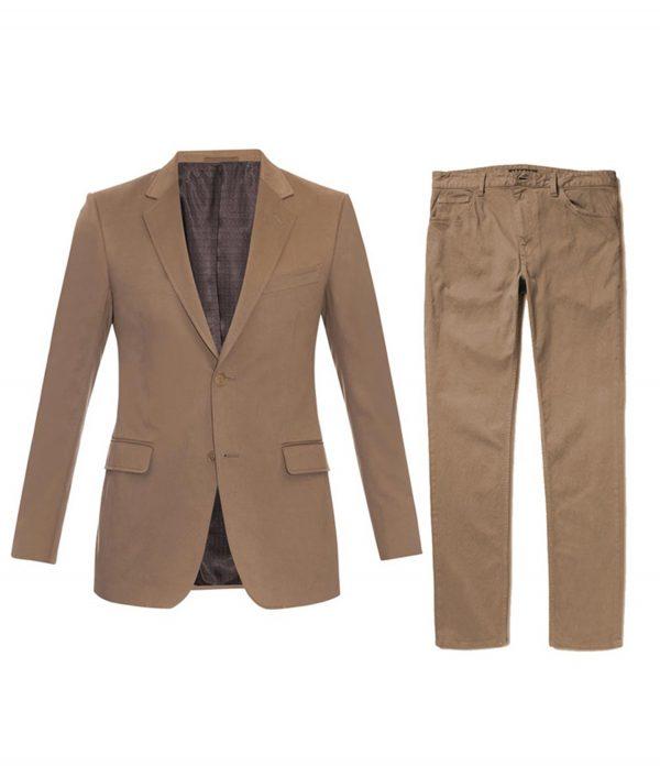 Daniel Craig Spectre James Bond Morocco Brown Travel Suit