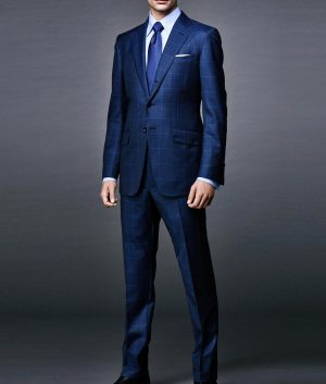 Daniel Craig Windowpane Blue Suit