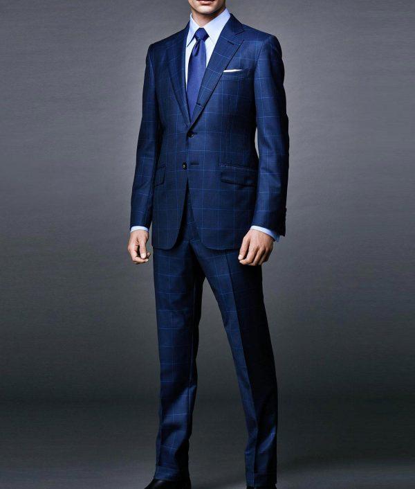 Daniel Craig Windowpane Blue Suit