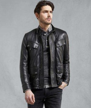 Javier Mens Denesmere Black Leather Jacket