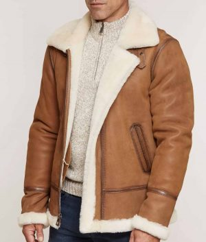 Jeffrey Mens Sheepskin B-3 Jacket