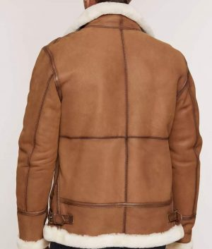 Jeffrey Mens Sheepskin B-3 Bomber Jacket