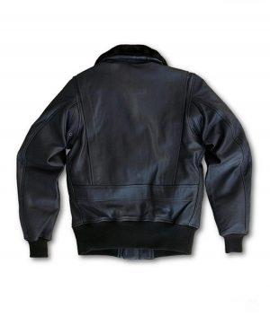 Jeffrey Mens US Wings USCG Goatskin Bomber G-1 Jacket