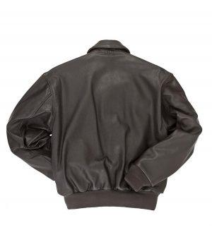 Jermaine Mens Black Reissue A-2 Bomber Jacket