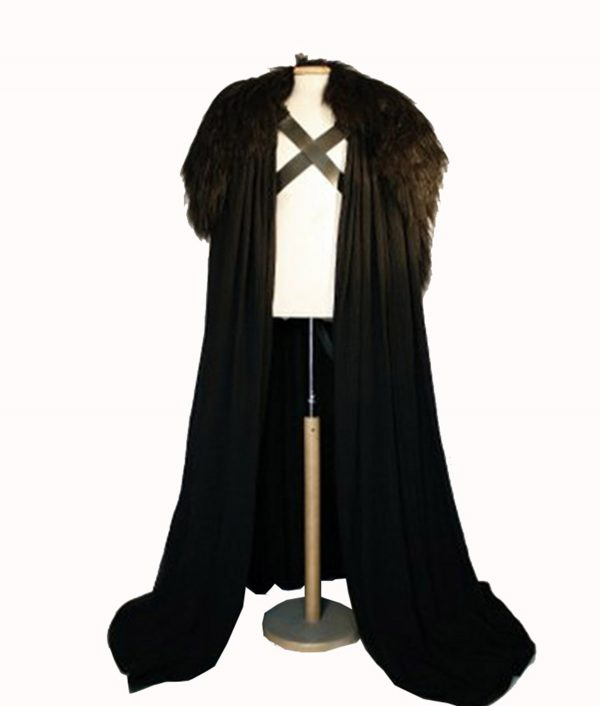 Game of Thrones Jon Snow Night's Watch Cloak Cape Costume